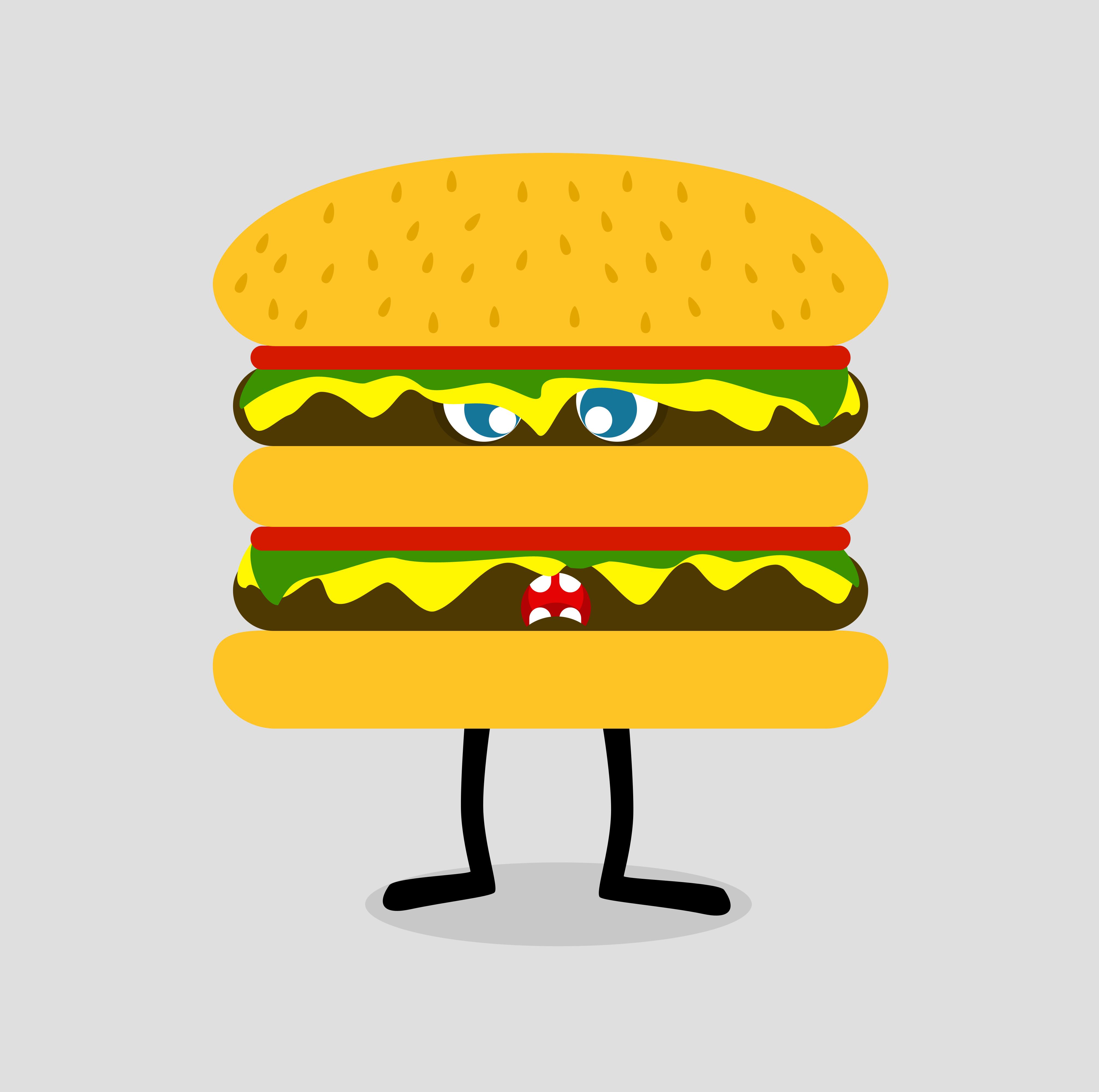 Mr Burger is angry   Lablob.com